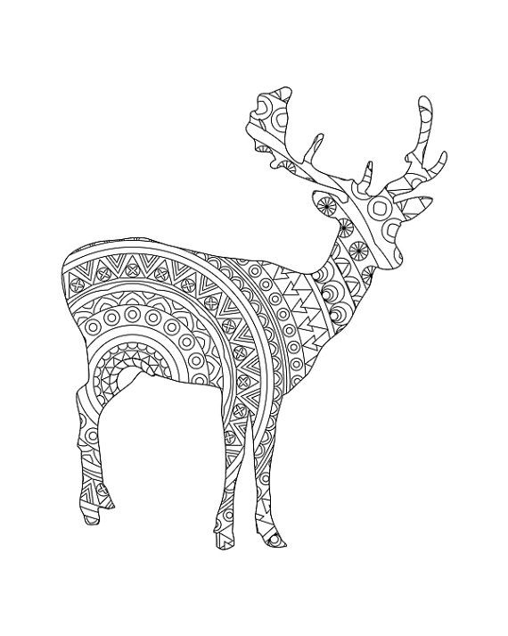 Deer pages for adults coloring pages for Deer coloring pages for adults