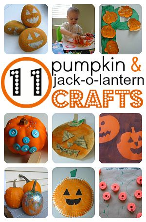 Easy Pumpkin & Jack-O-Lantern Crafts - Pinned by @PediaStaff – Please Visit http://ht.ly/63sNt for all our pediatric therapy pins