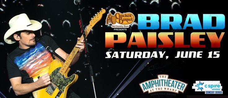Brad Paisley at The Wharf Orange Beach!