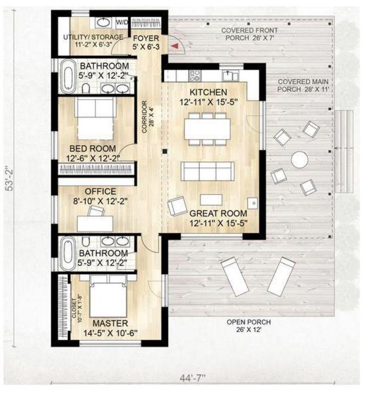 17 best images about casas on pinterest madeira two - Casas de madera planos ...