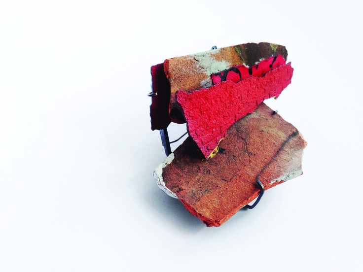 "Han-Chieh Chuang - Brick Brooch 02  -Bench886 -. ""BUBBLE LAND"""