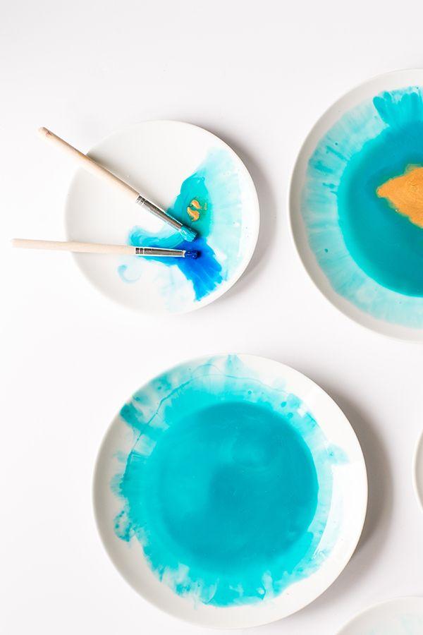 DIY Watercolor Plates