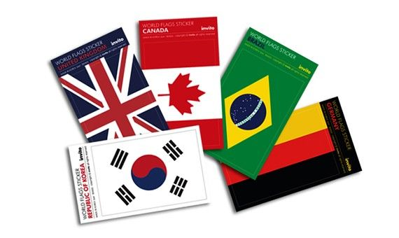 National flags sticker. For carrier/ ruggage/ trunk. and For anywhere, anything