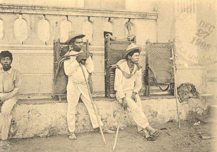 Foto postal, con sello de correos La Union , Dec. 27,1903