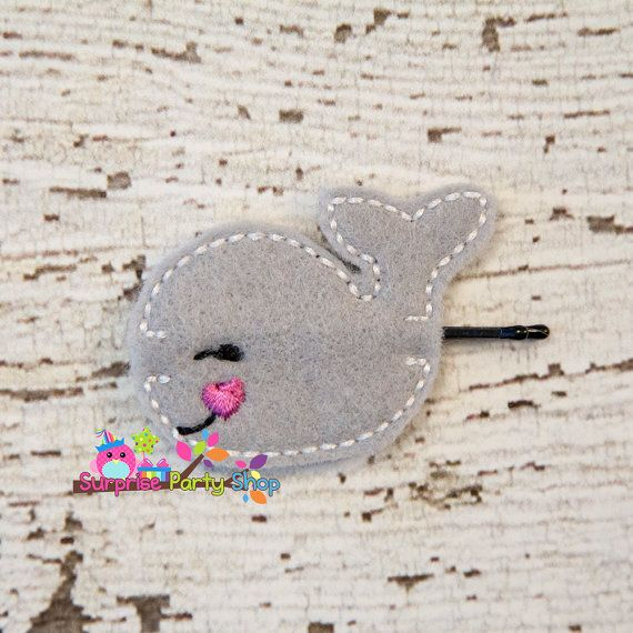 Gray Whale Bobby Pin Buddie Hair by SurprisePartyShop on Etsy