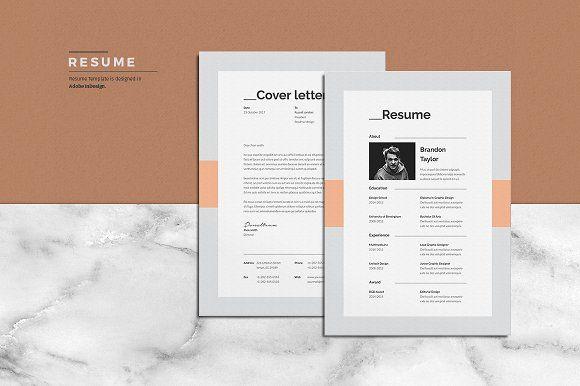 Schriftart | Unterstriche | Resume/CV by ThemeDevisers on @creativemarket