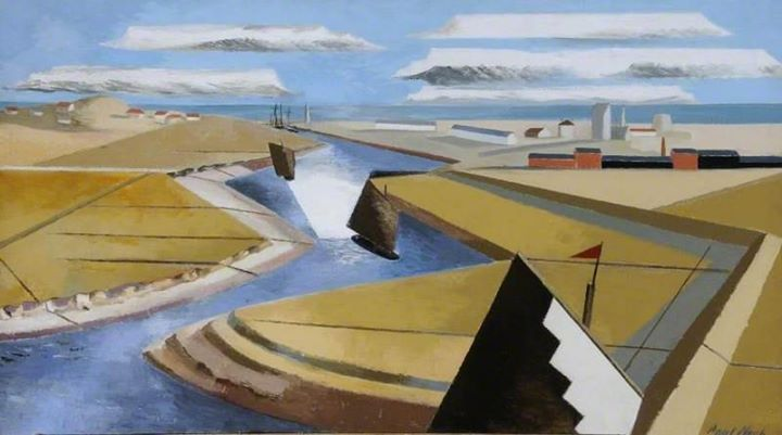 """""""The Rye Marshes"""" by Paul Nash, 1932"""