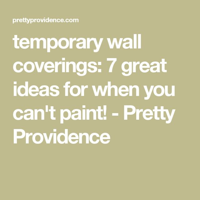 The 25 best temporary wall covering ideas on pinterest for Temporary wall coverings
