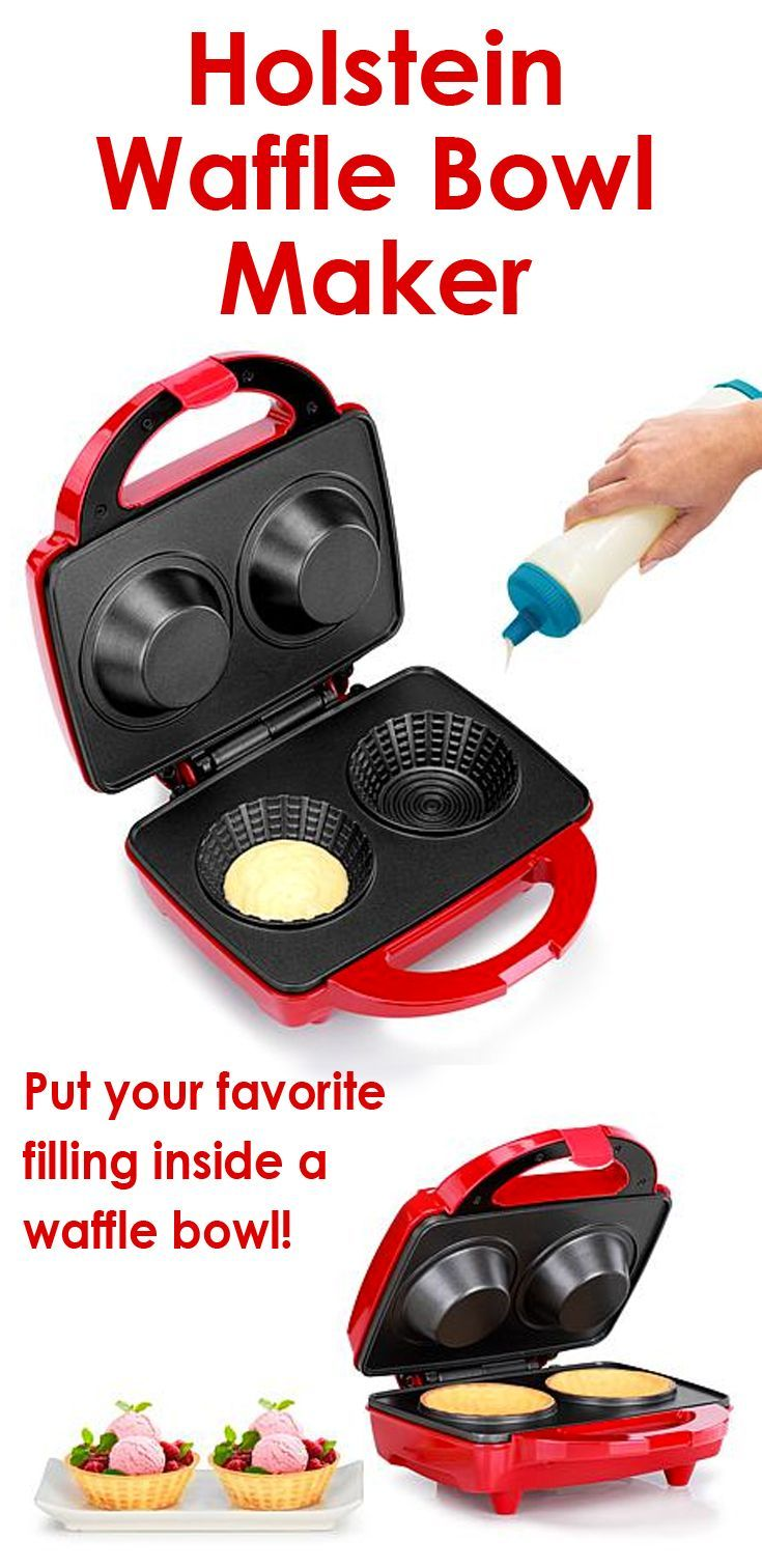 Turn your favorite waffle recipe into an edible bowl in just minutes with this waffle bowl maker. Tasty treats,  Waffle Maker #affiliate