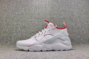b27283e109cd Mens Womens Nike Air Huarache Pu Material White Red 875841 116 Running Shoes