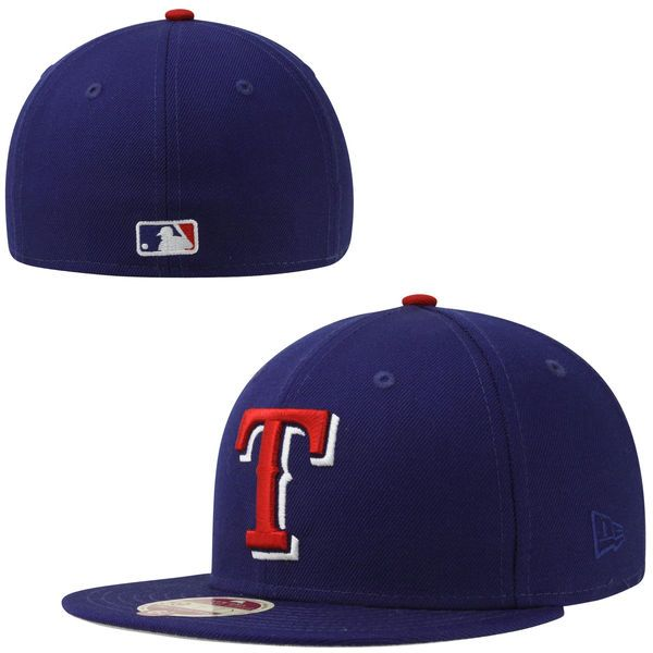 New Era Texas Rangers Classic Wool 59FIFTY Fitted Hat - Royal Blue - $34.99