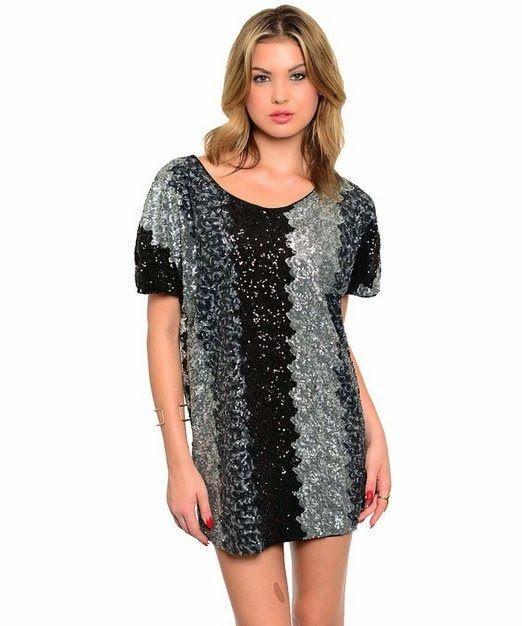 sequin shift dress: Silver Sequin Shift Dress