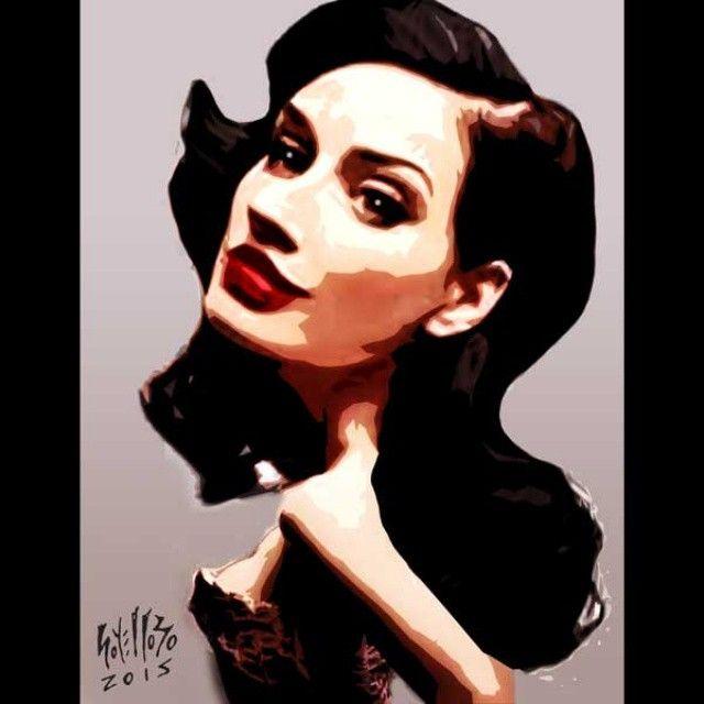 DITA VON TEESE #HappyBirthday!  #DitaVonTeese #modelo #glamour #style #digitalart #artedigital #ilustración #illustrator #photoshop #adobe #art #arte #artwork #instaart #diseño #design #pop #popart #girl #sexy #dibujo #draw #sketch #caricatura #toon #caracas #Venezuela #soyellobo  Un 27 de septiembre nació la super sexy Dita. #felizcumpleaños!