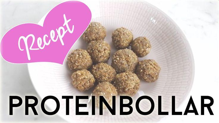 Recept proteinbollar ♥ Protein balls recipe (eng sub)