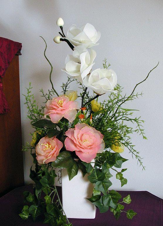 Handmade Nylon Flower Arrangement by LiYunFlora on Etsy, $35.00