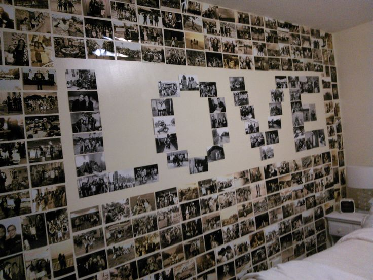 Photo walls photo wall collage and wall decor on pinterest for Collage mural ideas
