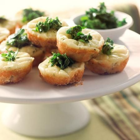Bouchées apéritives au fromage ail & fines herbes....miam!