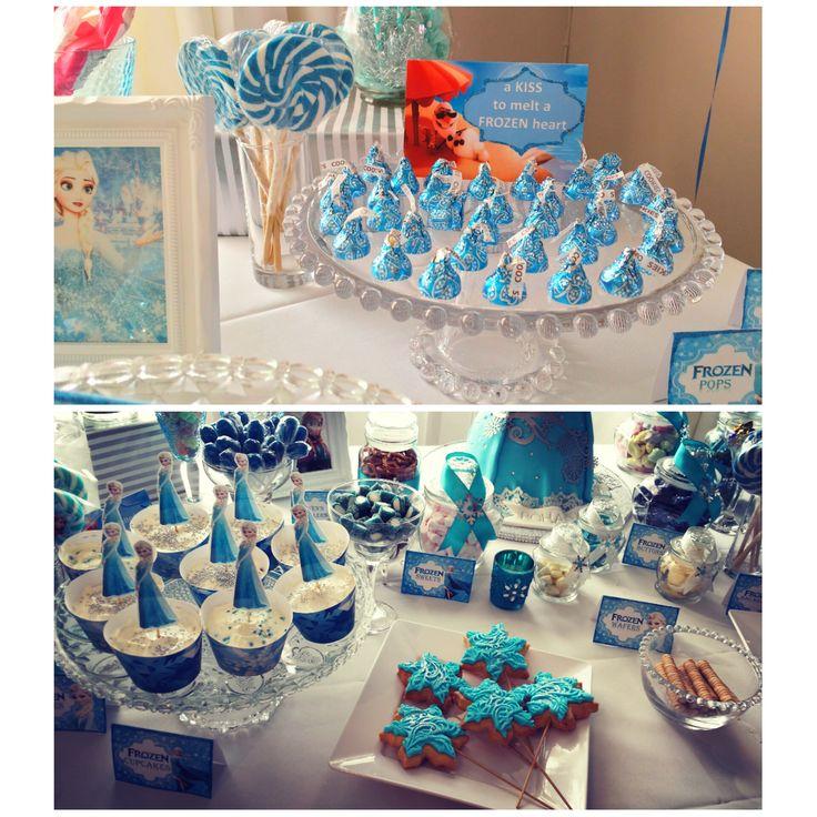 frozen themed party deco sweet treats