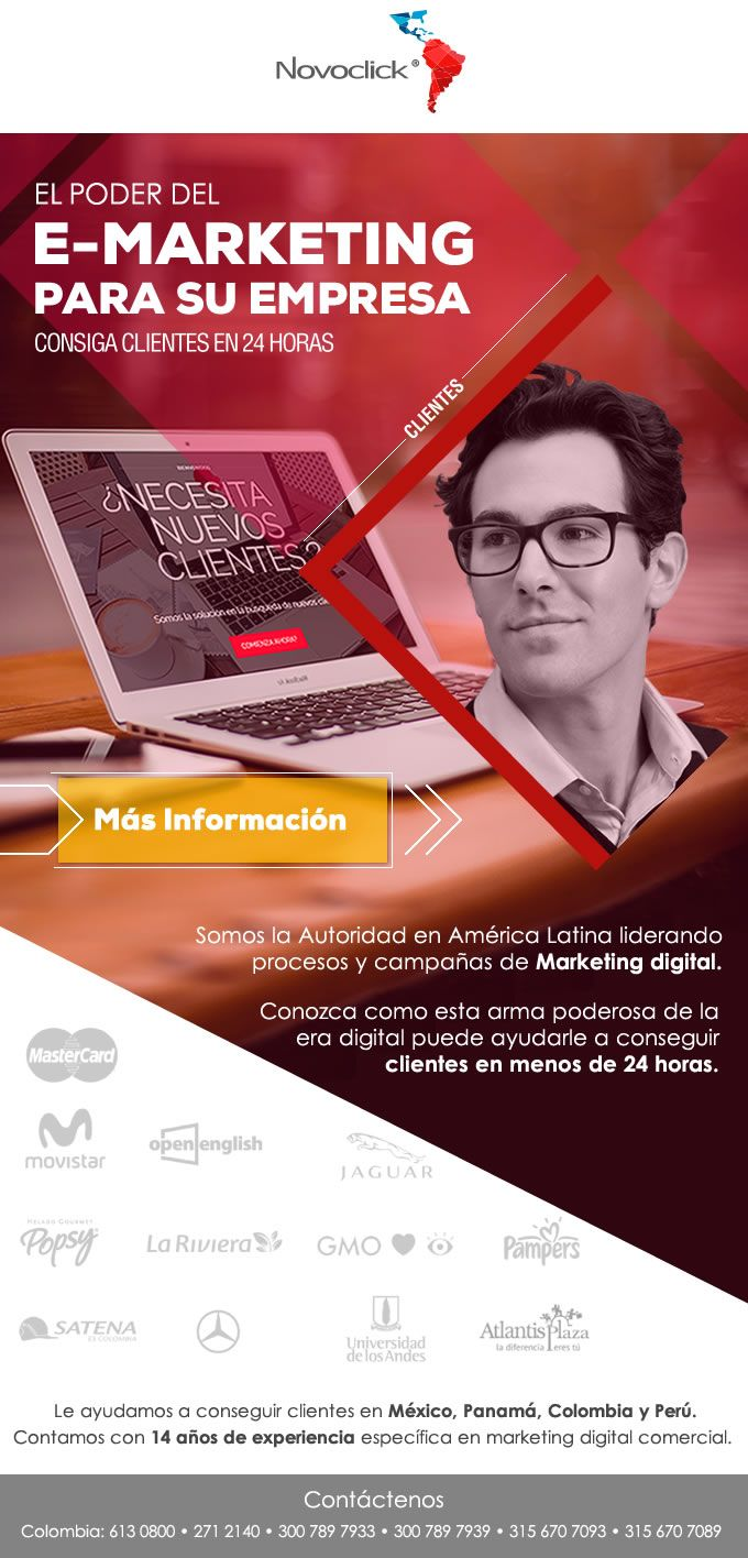 #NOVOCLICK esta con #E-Marketing #ConsigaClientesParaSuEmpresa