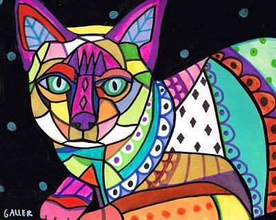Siamese Cat Cross Stitch Kit Siamese Cat By Heather by GeckoRouge, $92.00