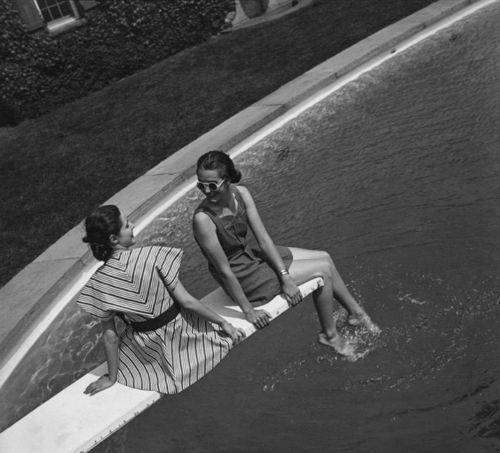 Fashion shoot 1936: Tony Frissel, July 1936, Premium Photographers, Bw Photography, Pools Parties, 1936 Photos, Photographers Prints, Shoots 1936, Fashion Shoots