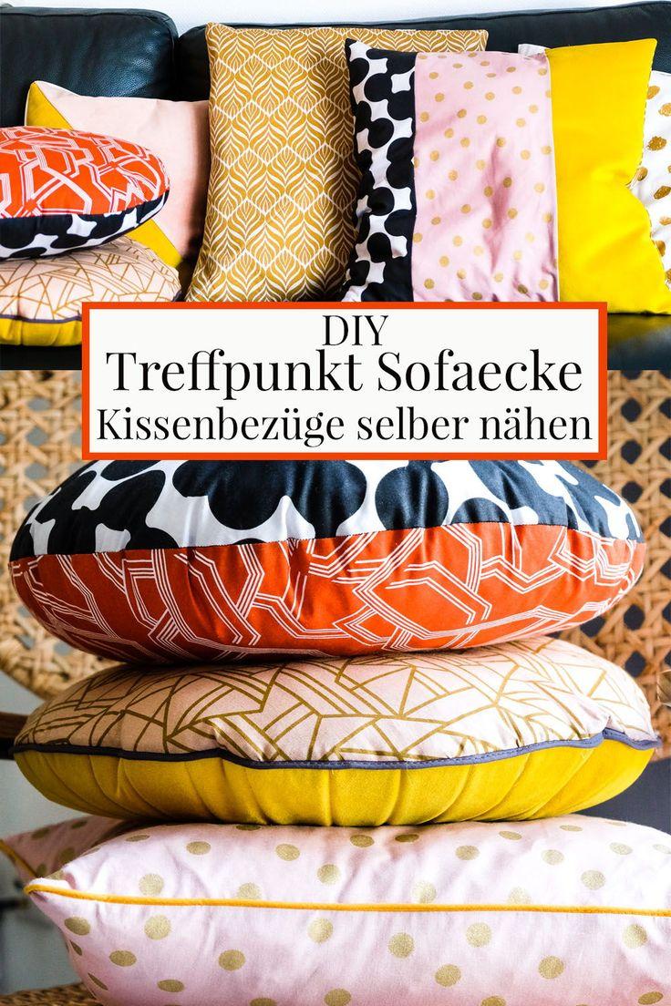 treffpunkt sofaecke diy kissenbez ge in knalligen herbstt nen get crafty pinterest. Black Bedroom Furniture Sets. Home Design Ideas