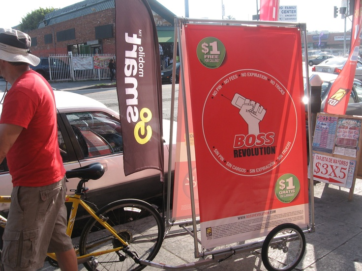 Bike Trailer Advertising   Mobile Bike Billboard Trailer ...