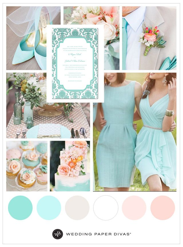 Looking for a pastel color palette for your wedding day? These airy, romantic pink and blue wedding colors are perfect for spring. Save this vision board!
