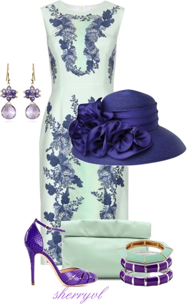 """The Kentucky Derby"" by sherryvl on Polyvore..... although I'll like a different hat...."