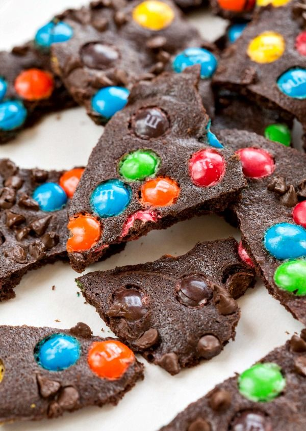 M&M Brownie Brittle Bark, would make a great gift for the holidays!