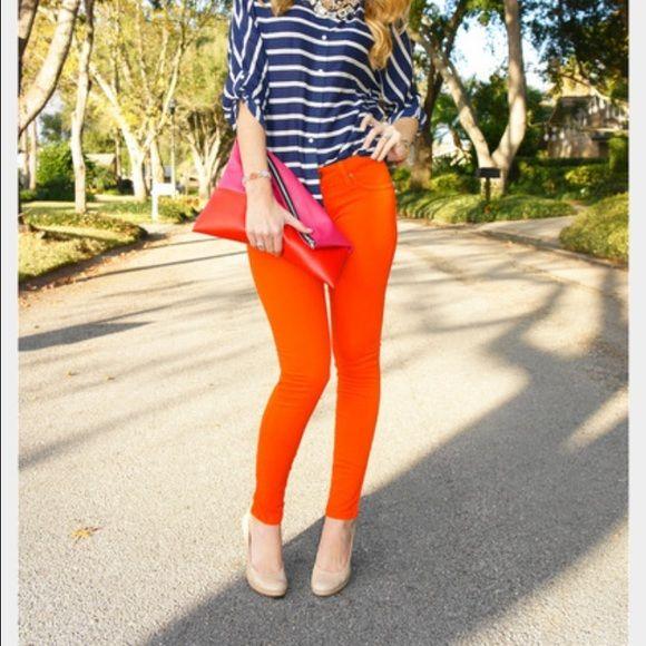 NWOT Orange jeans Orange jeggings Was a gift!brandnew Jeans Skinny