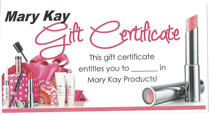 MK Gift Certificate: Mary Kay Christmas Gift, Beauty Consultant, Law ...