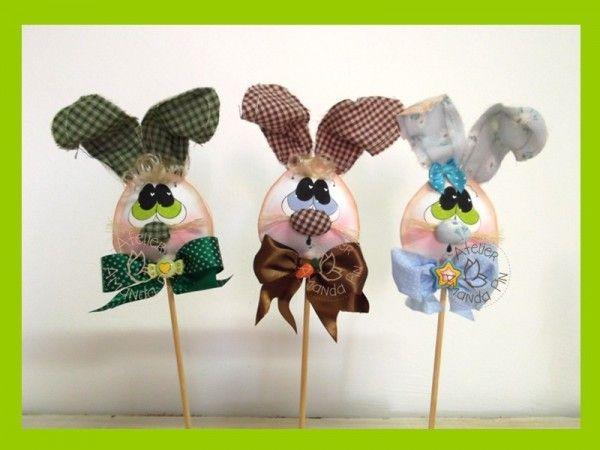 Pinchos de Conejos en #gomaeva #foamy para #pascuas
