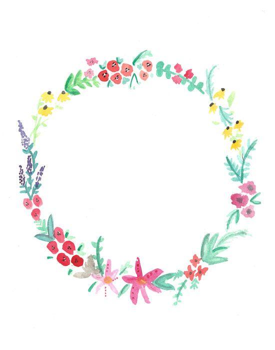 Watercolor Floral Wreath Google Search Cuadernos Escolares