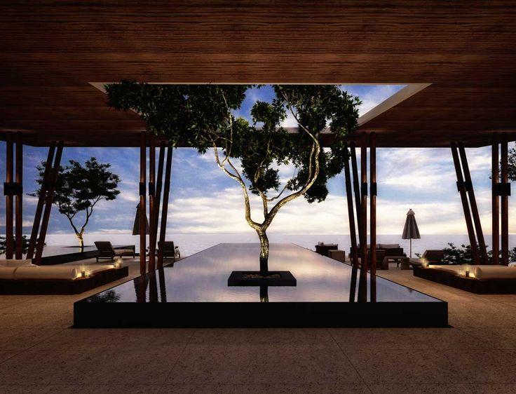 Espejo de Agua: Son cuerpos de agua que permiten reflejar la construcción desde un punto de vista exterior. #jardinesdeagua