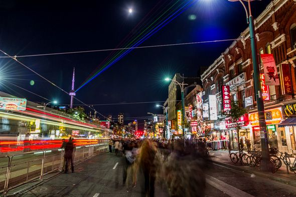 Nuit Blanche in Toronto -  a night of public art installations across the city