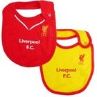 Liverpool Baby (Infant) Bibs 2014 – 2015, for all those little dribblers that like the current Liverpool home and away strips http://www.soccerbox.com/45008
