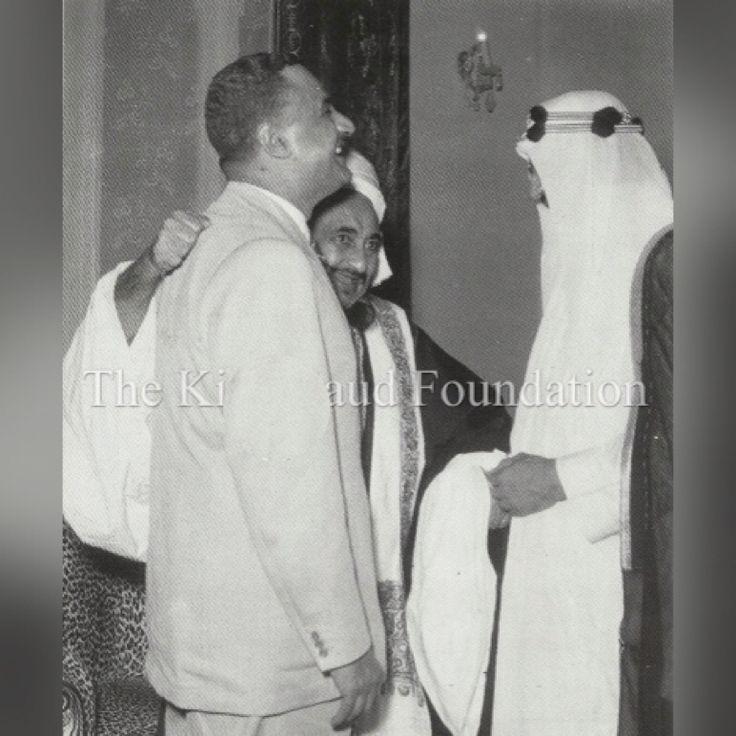 الزعيم جمال عبد الناصر مع الملك سعود و الإمام احمد بن يحيي حميد الدين Gamal Abdel Nasser Couple Photos Man