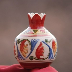 Vase, Pomegranate ceramic,handmade, hand painted