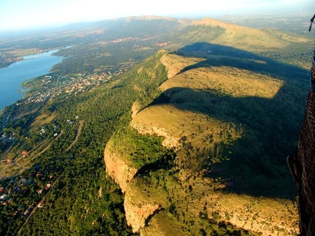 View of the Magaliesburg mountains with Hartbeespoort dam on the left.