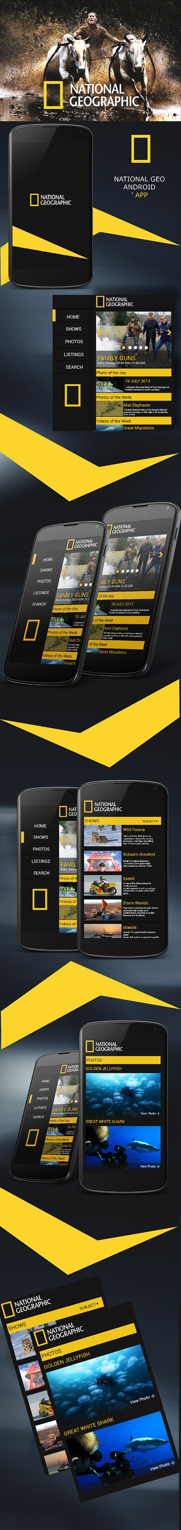 National Geographic Android App on Behance #mobile #interface #ui