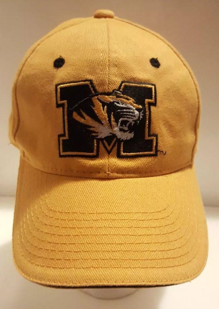 3328a90e5624b5 MIZZOU Tigers Yellow Ball Hat NCAA University Missouri Strapback Cap MU  Football #Signatures #BaseballCap