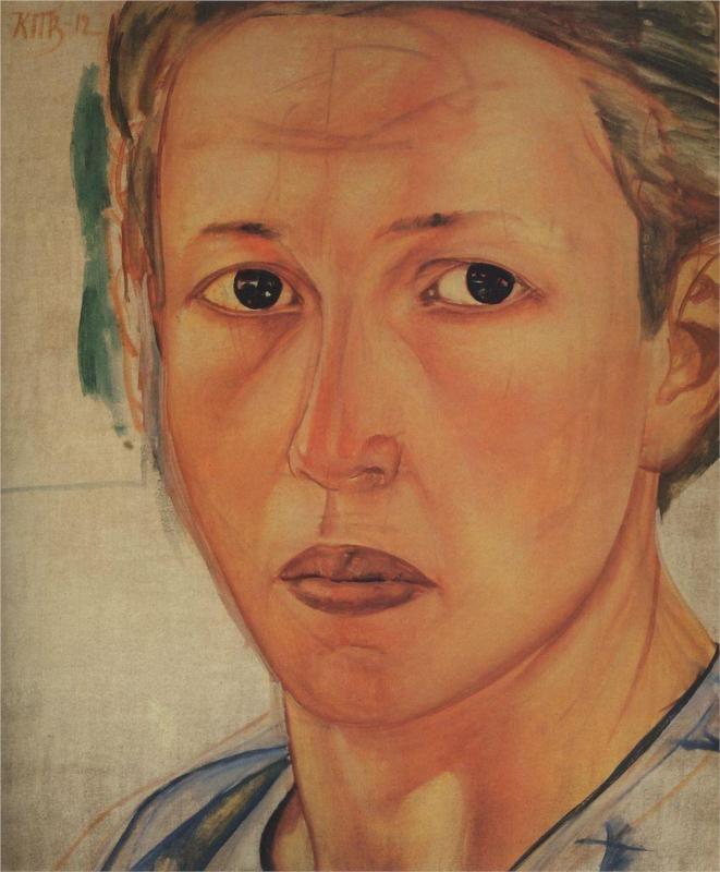 Portrait of Grekova (Kazachka), 1912  Kuzma Petrov-Vodkin