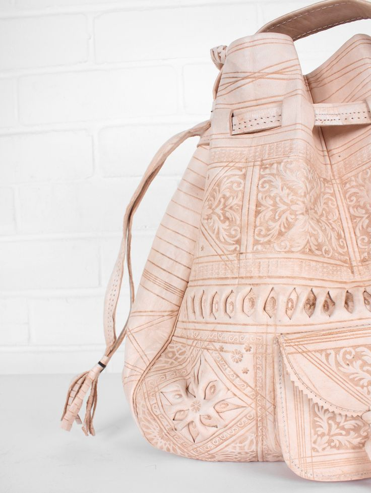 embossed natural leather