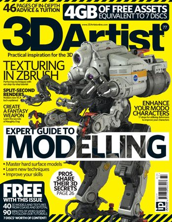 3D Artist is an invaluable guide to the world of 3D, whether you are a budding artist or experienced professional.  We constantly strive to bring you advice and inspiration from the best 3D artists in the business, and this month we have pulled together some of the most accomplished modellers in the industry to provide you with sure-fire ways to improve your modelling workflow and achieve incredible results.