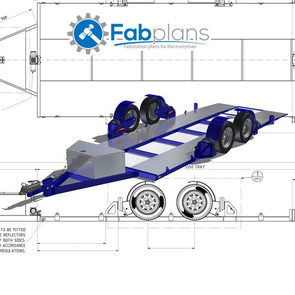 Airbag Car Trailer Plans-DIY-Build your own lowering race car trailer - A3+CDROM | Cars, Bikes, Boats, Trailers | eBay!