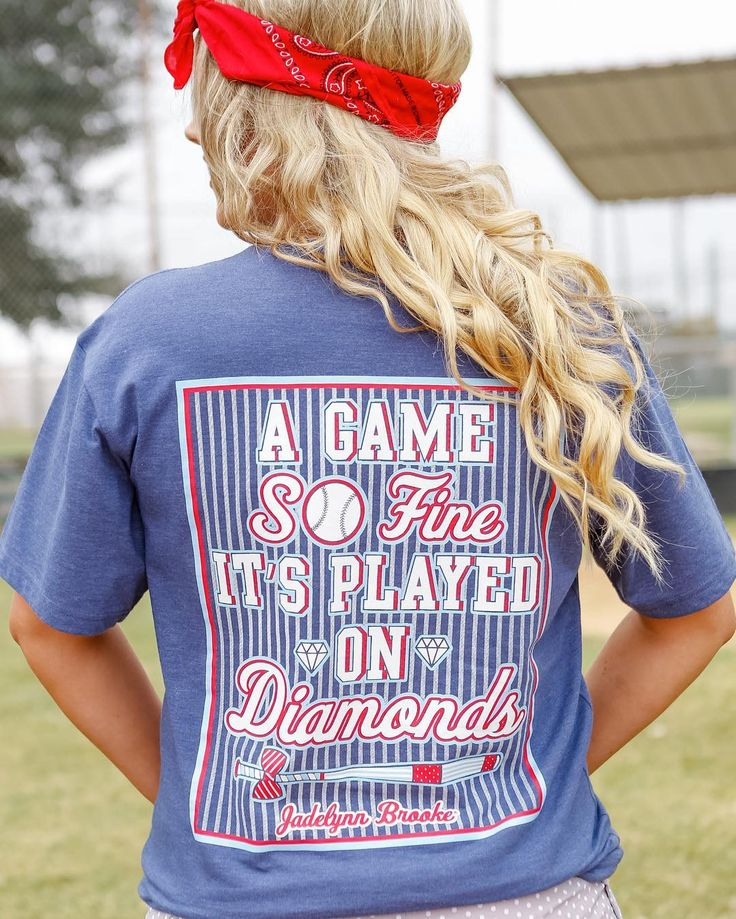 """""""A game so fine, it's played on diamonds."""" @tsebring18 & I need this for Atlanta Braves Spring Training! ❤⚾️️"""