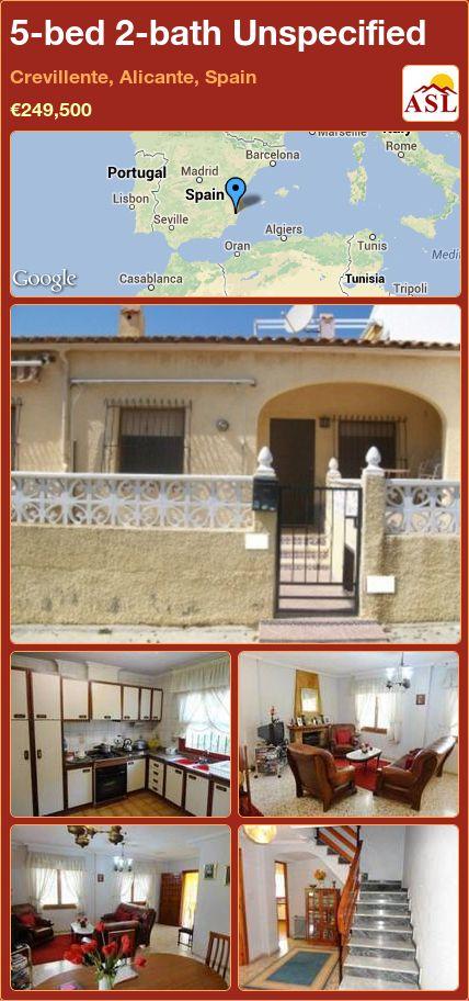 5-bed 2-bath Unspecified in Crevillente, Alicante, Spain ►€249,500 #PropertyForSaleInSpain