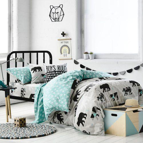 Adairs Kids Bear Quilt Cover Set, kids doona cover, kids winter bedding                                                                                                                                                                                 More