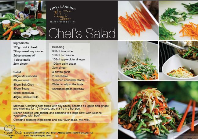 Chef salad recipe card